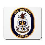 USS Bridge AOE 10 US Navy Ship Mousepad
