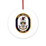 USS Bridge AOE 10 US Navy Ship Ornament (Round)