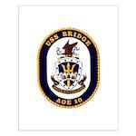 USS Bridge AOE 10 US Navy Ship Small Poster