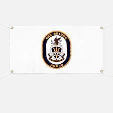 USS Bridge AOE 10 US Navy Ship Banner