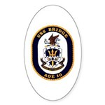 USS Bridge AOE 10 US Navy Ship Oval Sticker
