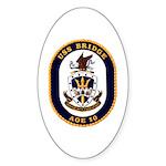 USS Bridge AOE 10 US Navy Ship Sticker (Oval 10 pk