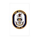 USS Bridge AOE 10 US Navy Ship Rectangle Sticker
