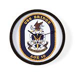 USS Bridge AOE 10 US Navy Ship Wall Clock