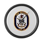 USS Bridge AOE 10 US Navy Ship Large Wall Clock