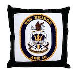 USS Bridge AOE 10 US Navy Ship Throw Pillow