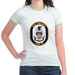 USS Bridge AOE 10 US Navy Ship Jr. Ringer T-Shirt