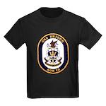 USS Bridge AOE 10 US Navy Ship Kids Dark T-Shirt