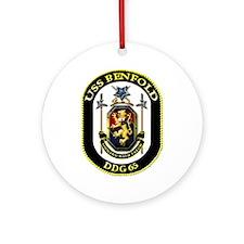 USS Benfold DDG 65 US Navy Ship Ornament (Round)