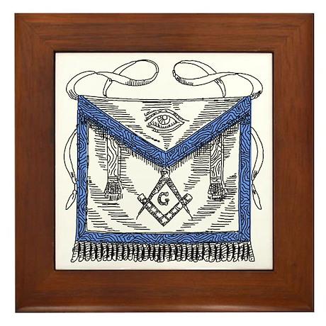 Masonic Apron Framed Tile