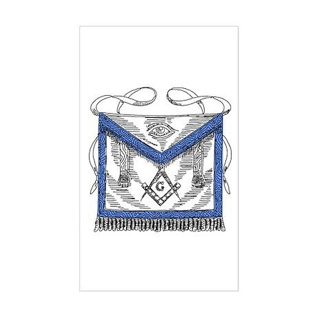 Masonic Apron Sticker (Rectangle)