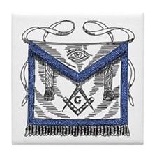 Masonic Apron Tile Coaster