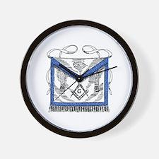 Masonic Apron Wall Clock