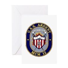 USS Ardent MCM 12 US Navy Ship Greeting Card