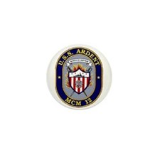 USS Ardent MCM 12 US Navy Ship Mini Button (10 pac
