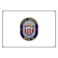 USS Ardent MCM 12 US Navy Ship Banner