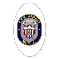 USS Ardent MCM 12 US Navy Ship Oval Decal