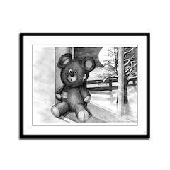 Teddy Bear Framed Panel Print