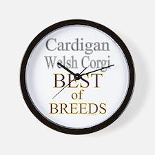 Cardigan Welsh Corgi Best Of Breed Wall Clock