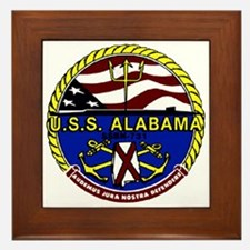 USS Alabama SSBN 731 US Navy Ship Framed Tile