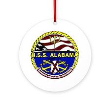 USS Alabama SSBN 731 US Navy Ship Ornament (Round)