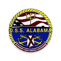 "USS Alabama SSBN 731 US Navy Ship 3.5"" Button (100"