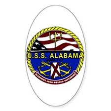 USS Alabama SSBN 731 US Navy Ship Oval Decal