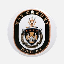 USS Carney DDG 64 US Navy Ship Ornament (Round)