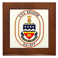 USS Briscoe DD 977 US Navy Ship Framed Tile