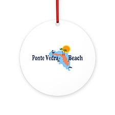 Ponte Vedra Beach FL Ornament (Round)