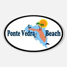 Ponte Vedra Beach FL Oval Decal