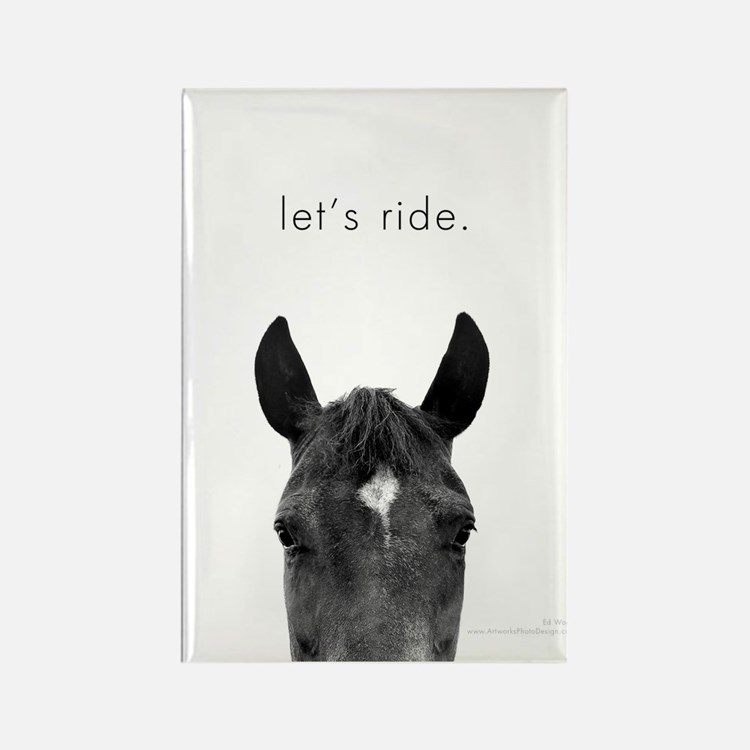 Let's Ride print by Ed Wood Rectangle Magnet