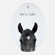 Let's Ride print by Ed Wood Oval Ornament