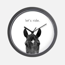 Let's Ride print by Ed Wood Wall Clock