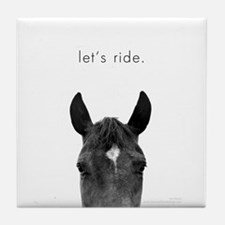 Let's Ride print by Ed Wood Tile Coaster