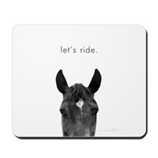 Let's Ride print by Ed Wood Mousepad