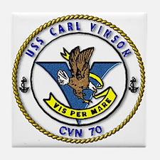 USS Carl Vinson CVN 70 US Navy Ship Tile Coaster