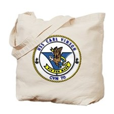 USS Carl Vinson CVN 70 US Navy Ship Tote Bag