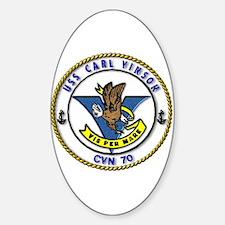 USS Carl Vinson CVN 70 US Navy Ship Oval Decal