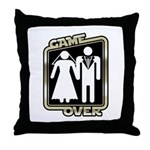 Retro Game Over Throw Pillow