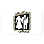 Retro Game Over Rectangle Sticker 10 pk)
