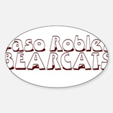 PASO ROBLES BEARCATS (23) Oval Decal