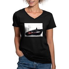 Dream Pipe Women's V-Neck Dark T-Shirt