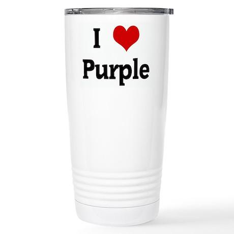 I Love Purple Stainless Steel Travel Mug
