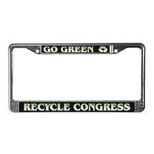 Funny Go Green ~ License Plate Frame