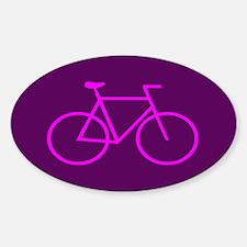 Purple/Pink Bike Oval Decal