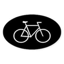 Black/White Bike Oval Decal