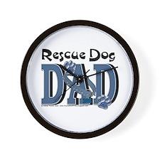 Rescue Dog DAD Wall Clock