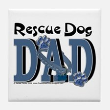Rescue Dog DAD Tile Coaster