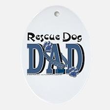 Rescue Dog DAD Oval Ornament